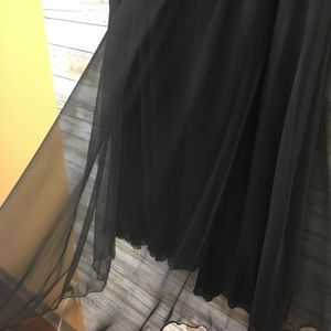 Vintage Skirts - Vintage NWT 80's Black Sheer Evening Skirt 24W